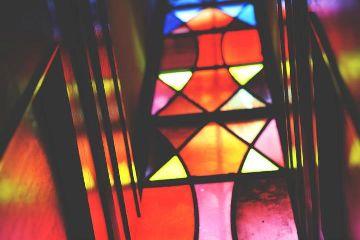 window still colorful church florida