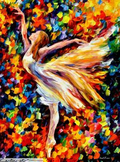 colorful art ballet dance painting love