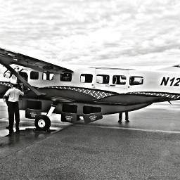 travel plane photography black & white