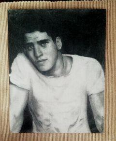 art drawing pencil portrait liam hemsworth black & white